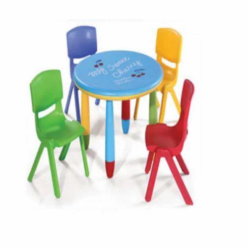6712b8e6b90 Plastic Kids 4 Seater Table, Rs 2300 /piece, Kid Kraze | ID: 16302821255