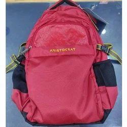 Premium Pu Fabric Red, Black Aristocrat Cameo Backpack