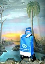 blue Folding Shopping Bag