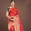 Fancy Zari Handwork Silk Saree