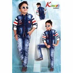 Boys Denim Kids Fancy Baba Suit