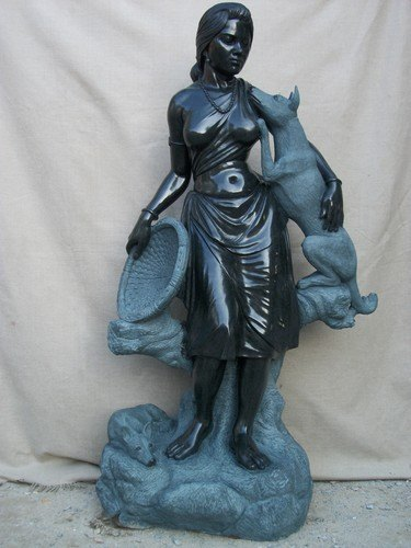 Black Marble KA-2053 Stone Sculpture, For Interior Decor, Size: Min. 12 Inch To 150 Inch