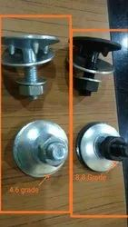 Round Stainless Steel Euro Elevator Bucket Bolts, Size: M6 To M12, Model Name/Number: PU004