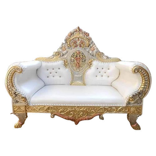 White And Golden Fancy Wedding Sofa
