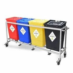 60L Bio Medical Waste Trolley