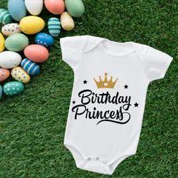 White Eiffel Textiles Birthday Return Gift New Born Baby Suit