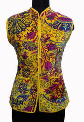 Velvet Ladies Fashion Wear Yellow Jackets