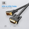 VGA Male To Male Cable With 2ferrite (gold Plated) 15 Meter