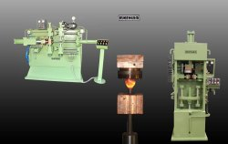 Colour Coated 50 Hz Electric Upsetter Machine, Automation Grade: Semi-Automatic