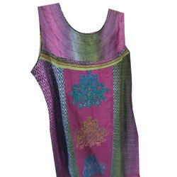 Cotton Sleeveless Printed Kurti, Size: S, M & L