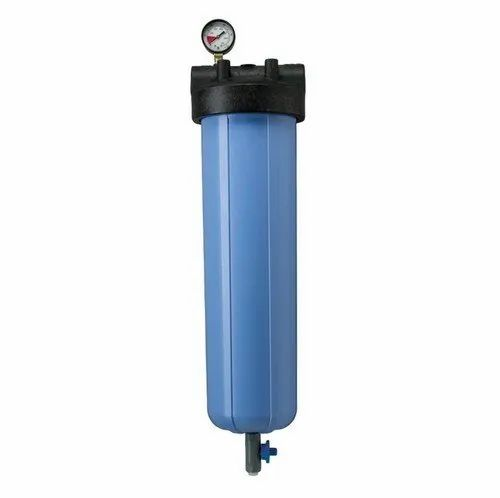 "Blue Polypropylene water filter housing, Size: upto 20"" long, Cartridge Size: 10"" and 20"" long"