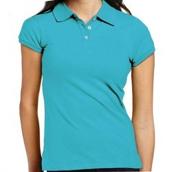 Cotton Half Sleeve Womens Collar T Shirt, Size: S, M, and L