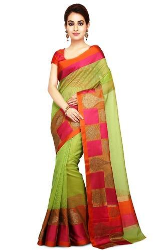 d0bd33810ca0f6 Supernet Sarees - La'ethnic Green Super Net Saree Manufacturer from ...