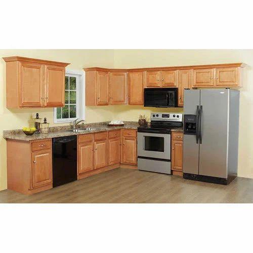 Designer L Shaped Modular Kitchen At Rs 2500 Square Feet: Modern Modular Kitchen Cabinet, Rs 1000 /square Feet