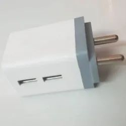 White 3.4 A Dual Port Mobile Charger Adapter