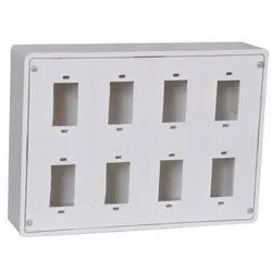 Plastic White PVC Switch Box, For Electric Fitting