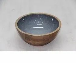 Printed Round WOOD BOWL, For Party Supplies