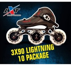 3 X 90 Lightning 10 Skate package