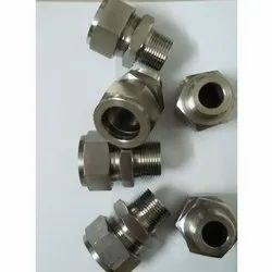 Ss Straight Tube Connector, for Structure Pipe, Size: 1/8 to 2