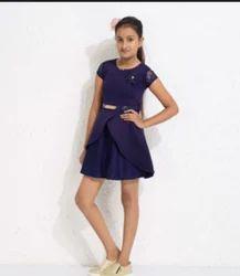 Plain Girls Blue Fancy Outfits