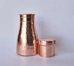 Wandcraft Exports Copper Carafe Bedroom Water Bottle