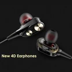 Designer 4D Earphone, Packaging Type: Packet