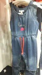 Casual Wear Designer Kids Denim Dress