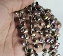 Pear Spinal Coated Faceted Beads