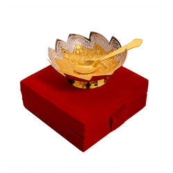 Designer Silver And Gold Plated Bowl Set