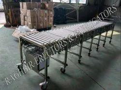 Collapsible Powered Roller Conveyor