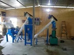 Semi Automatic Cattle Feed Plant 100 Kg /Hr