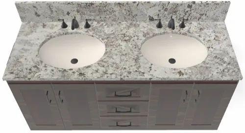 Granite Vanity Tops For Usa Market Incl 1 Backsplash 1 Sidesplash 1 Ceramic Sink At Rs 200 Piece ग र न इट व न ट ट प M D Tradeline Jaipur Id 21286705191