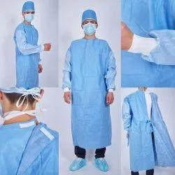 Blue & Green Ot Room Wear Non Woven Lab Coat