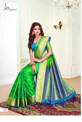 Green Color Art Pattu Silk Saree