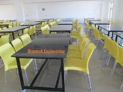 Metal, Mild Steel Remtech Canteen Table With Granite Top, Warranty: 1 Year, Seating Capacity: 6