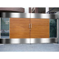 Metalex Automation Sliding & Swing Stainless Steel Gate for Residential