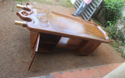Fibre Massage Table with Wooden Stand