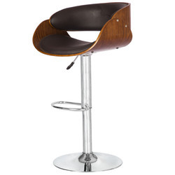 Wooden and Black Colored Bar Stool