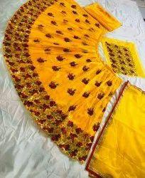 Kanchan Textiles Silk Ladies Embroidered Lehenga Choli, Handwash