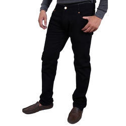 Denim Plain Mens Black Jeans