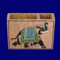 Soapstone Pen Holder Elephant Design