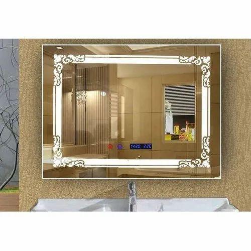 Decorative Glass Rectangular Wall, Rectangular Bathroom Mirror