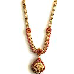 Golden And Red Antique Necklace