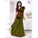 Casual Wear Fancy Pure Cotton Saree, Machine