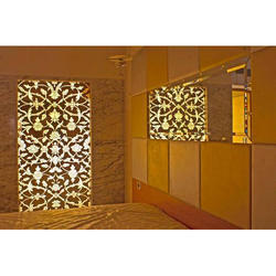 Painted Glass Partition