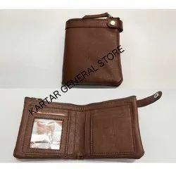 Kartar Male Brown Rectangular Leather Wallet
