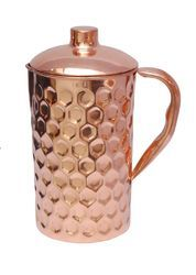 Pure Copper Dimond Design Jug
