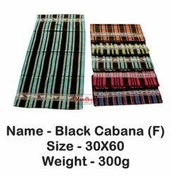 Mandhania Multicolor Black Cabana Filament Bath Towel, For Bathroom, 250-350 GSM