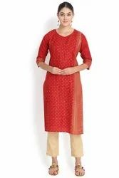 Round Neck Cotton Kurti