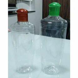 Transparent Plastic Hair Oil Bottle